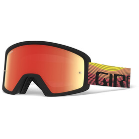 Giro Blok MTB Goggle orange/black heatwave, amber/clear